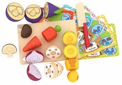 Набор продуктов с посудой BeeZee Toys Веселая грядка: еда для резки