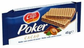 Вафли Gastone Lago Poker с шоколадной начинкой 150 г