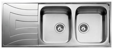 Врезная кухонная мойка TEKA Universo 2B 1D 116х50см нержавеющая сталь