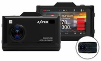 Видеорегистратор с радар-детектором AXPER Combo Hybrid 2CH Wi, 2 камеры, GPS, ГЛОНАСС