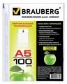 BRAUBERG Папка-файл перфорированная Яблоко, А5, 100 шт.
