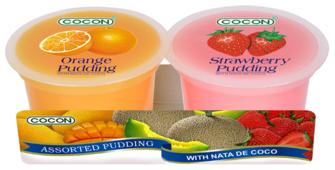 Пудинг COCON Апельсин и клубника 0%, 2 шт.