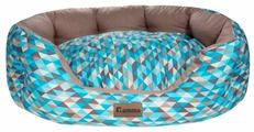 Лежак для собак Гамма Мозаика овальная медиум 60х48х20 см