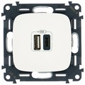 USB розетка Legrand Valena Allure 754965, белый
