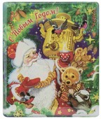 Магнит Феникс Present Дед Мороз с самоваром 6 см