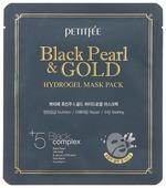 Petitfee Гидрогелевая маска для лица с черным жемчугом и золотом