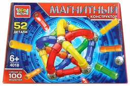 Магнитный конструктор ГОРОД МАСТЕРОВ Магнитный 4018 Палочки и шарики