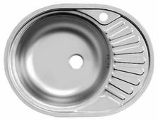 Врезная кухонная мойка UKINOX Favorit FAL 577.447-T6K 57.7х44.7см нержавеющая сталь