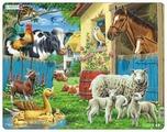 Рамка-вкладыш Larsen Животные фермы (FH23), 23 дет.