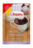 С.Пудовъ Смесь готовая Кекс в кружке Шоколадный для микроволновой печи, 0.07 кг