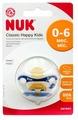Пустышка латексная ортодонтическая NUK Classic Happy Kids 0-6 м (1 шт)