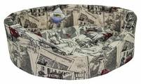 Лежак для кошек, для собак Бобровый Дворик с бортиком Город №2 49х38х16 см