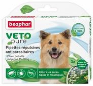 Капли от блох и клещей Beaphar Veto pure для собак