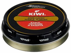 Kiwi Shoe Polish крем в банке черный