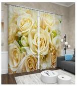 Фотошторы Сирень Тепло роз (ФШСТ001-13593) на ленте 260 см