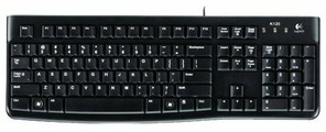Клавиатура Logitech Keyboard K120 EER Black USB