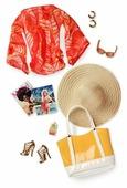 Barbie Пляжный комплект для куклы Барби Basics Look No 01—Collection 003