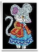Волшебная Мастерская Мозаика из пайеток Мышка М011