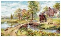 Алиса Набор для вышивания крестиком Воскресная прогулка 51 х 31 см (3-25)