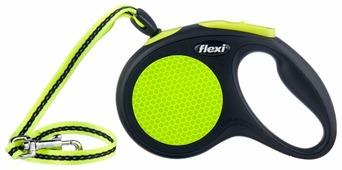 Поводок-рулетка для собак Flexi New Neon M тросовый