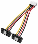 Разветвитель Vention Molex 4 pin - 2xSATA 15 pin (KDCBB) 0.15 м