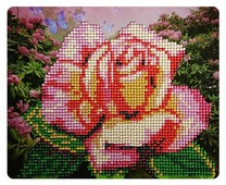 Color Kit Набор алмазной вышивки Нежная роза (M005) 21х17 см