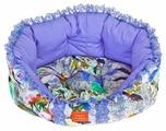 Лежак для собак HappyPuppy Амели M 50х45х15 см