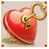 Алмазная живопись Набор алмазной вышивки Ключ от сердца (АЖ-1294) 20х20 см