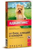 Адвантикс (Bayer) Капли на холку для щенков и собак до 4 кг (1 пипетка)