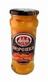 Персики Скатерть-Самобранка в сиропе, стекляная банка 580 г