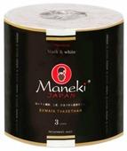 Туалетная бумага Maneki Black&White Зелёный чай трёхслойная