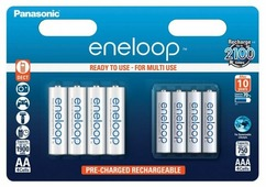 Аккумулятор Ni-Mh 1900 мА·ч Panasonic eneloop mix AA+AAA