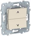 Кнопочный выключатель (кнопка) Schneider Electric NU520744,6А, бежевый