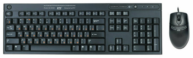 Клавиатура и мышь BTC AB5109 Black USB