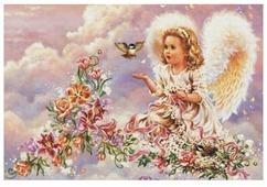 Белоснежка Набор для вышивания Серебристый ангел 34 x 23 см (4002)