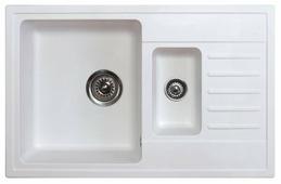 Врезная кухонная мойка ORIVEL Quadro Plus 1,5D 78х50см полимер