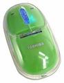 Мышь Toshiba Optical Scrol Mouse Green USB