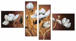 Модульная картина Картиномания Белые цветы