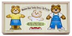 Рамка-вкладыш Melissa & Doug Переодень семью мишек (3770), 45 дет.