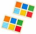 Набор рамок-вкладышей Raduga Kids Сложи квадрат уровень 1 (RK1130)