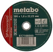 Диск отрезной 180x1.6x22.23 Metabo SP-Novorapid INOX 617166000