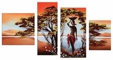 Модульная картина Картиномания Африканка у реки