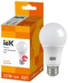 Лампа светодиодная IEK ECO 3000K, E27, А60, 15Вт