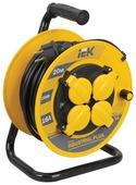 IEK Удлинитель на катушке 4х20м с заземл. 16А IP44 УК20 Industrial plus с термозащ. 3х1.5
