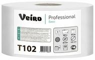 Туалетная бумага Veiro Professional Basic T102 белая однослойная