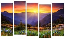 Модульная картина Картиномания Горный пейзаж