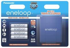 Аккумулятор Ni-Mh 750 мА·ч Panasonic eneloop AAA + кейс