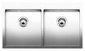 Интегрированная кухонная мойка Blanco Claron 400/400-IF/A 88.5х51см нержавеющая сталь