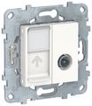 Телекоммуникационная розетка Schneider Electric NU547018, белый