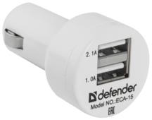 Автомобильная зарядка Defender ECA-15